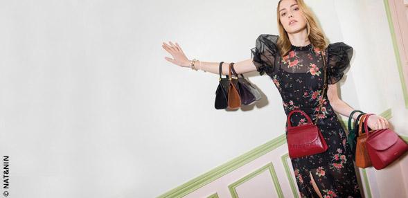 Mini-Handtaschen, Maxi-Look
